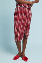 Load image into Gallery viewer, Copy of Anthropologie Eva Franco Wool Tweed Foldover Red Striped Slim Pencil Skirt – 12. - Luxe Fashion Finds