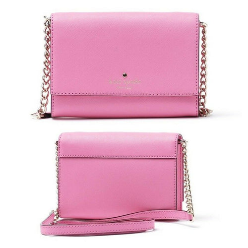 Kate Spade Cami  Leather X-Small Slim Crossbody Shoulder Bag, PInk - Luxe Fashion Finds