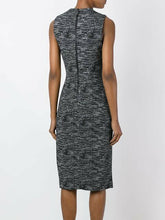 Load image into Gallery viewer, Alice + Olivia Carissa V-Neck Faux Wrap Sleeveless Sheath Gray Dress - 10 - Luxe Fashion Finds