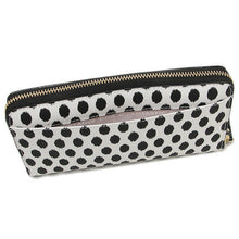 Load image into Gallery viewer, Kate Spade Women's Harding Street Lacey Ikat Dot Accordian White Zip Wallet - Luxe Fashion Finds