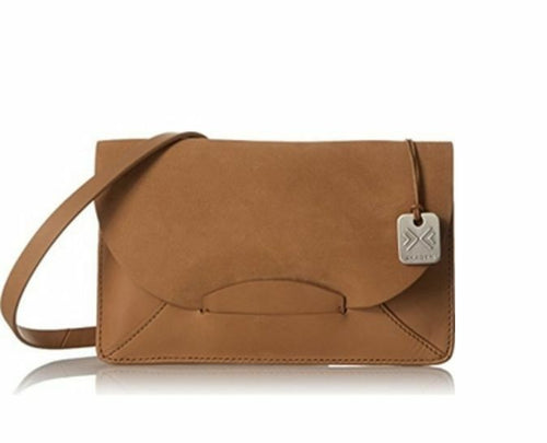 Skagen Women's Nilsson Slim Tan Leather & Suede Convertible Clutch Crossbody - Luxe Fashion Finds
