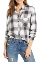 Load image into Gallery viewer, Rails Women's Hunter Plaid Button Up Long Sleeve Women's Shirt, Graphite White - S - Luxe Fashion Finds