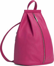 Load image into Gallery viewer, Matt & Nat Women's Vegan Leather Fuschia Pink  Zip Adjustable Small Backpack - Luxe Fashion Finds