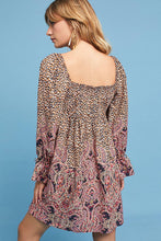 Load image into Gallery viewer, Anthropologie Women's Empire Waist Paisley Print Boho Tunic Mini Dress - Small - Luxe Fashion Finds