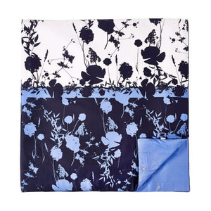 Ted Baker Bluebell 3-Piece Blue Floral Duvet 92x96 Cotton Cover Set, Full/Queen