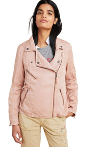 Anthropologie Women's Marrakech Draped Pink Moto Lighweight Jacket – XS
