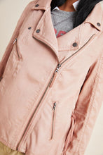 Load image into Gallery viewer, Anthropologie Women's Marrakech Draped Pink Moto Lighweight Jacket – XS