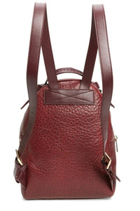 Ted Baker Women's Orilyy Knotted Handle Medium Leather Backpack, Oxblood