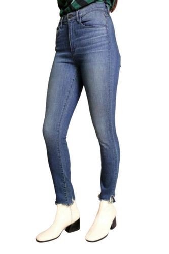 3X1 Women's High Rise W3 Skinny Crop Fray Hem Faded Blue Jean, Dale – 27 - Luxe Fashion Finds