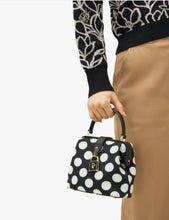 Load image into Gallery viewer, Kate Spade Women's Remedy Polka Dot Small Top-Handle Black Crossbody Bag