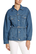 Load image into Gallery viewer, Rag & Bone Max Belted Denim Trucker Belted Oversized Women's Jacket, Large