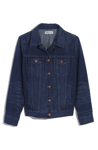 Madewell Women's Classic Denim Jean Jacket Distressed Blue Indigo, Briar - Luxe Fashion Finds