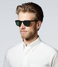 Load image into Gallery viewer, Jack Spade Men's Bryant 52mm Green Polarized UVA/UVB Aviator Black Sunglasses - Luxe Fashion Finds