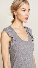 Load image into Gallery viewer, Current/Elliott Women's Cadence Scoop Neck Ruffle Jersey Mini Gray Dress - L (3) - Luxe Fashion Finds