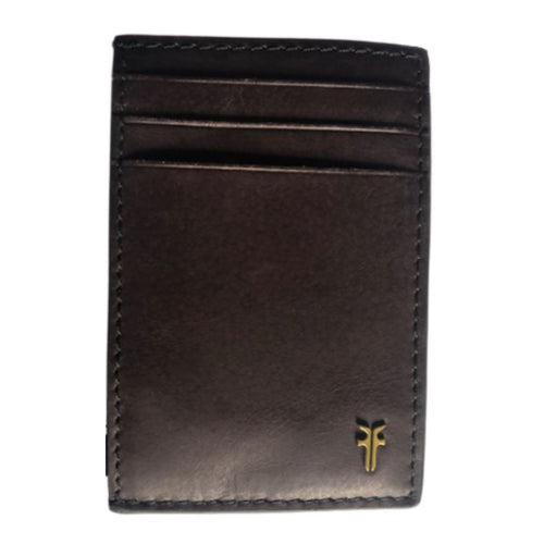 Frye Men's Leather Money Clip Slim Card Case Wallet, Brown NIB