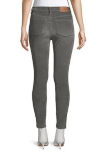 "Madewell Women's 10"" High-Rise Corduroy Skinny Stretch Jeans, Grey - Luxe Fashion Finds"