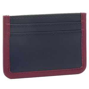 Marc Jacobs Women's Leather Slim Credit Card Case Wallet, Blue/Red - Luxe Fashion Finds