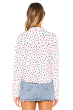 Load image into Gallery viewer, Rails Women's Val Heart Print Button Front Tie Waist White Shirt - XS - Luxe Fashion Finds