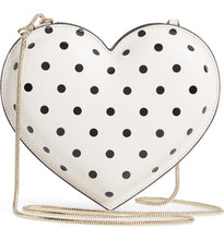 Load image into Gallery viewer, Kate Spade Women's Cabana Dot Heart White Leather Chain Crossbody Bag