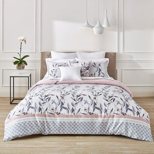 Ted Baker Everglade 3-Piece Floral Duvet 92x96 Cotton Cover Set, Full/Queen