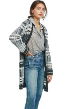 Load image into Gallery viewer, Anthropologie Women's Open Front Gray Plaid Wool Blend Long Cardigan Coat - S