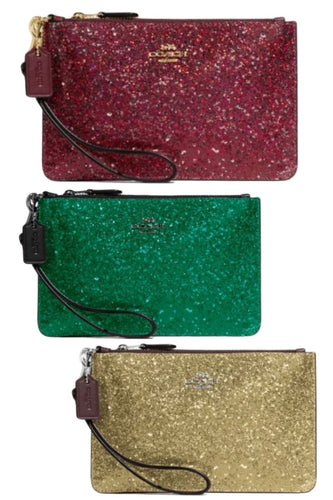 Coach Wizard of Oz Glitter Small Top Zip Wristlet Wallet Clutch, NIB #77964B  - Luxe Fashion Finds