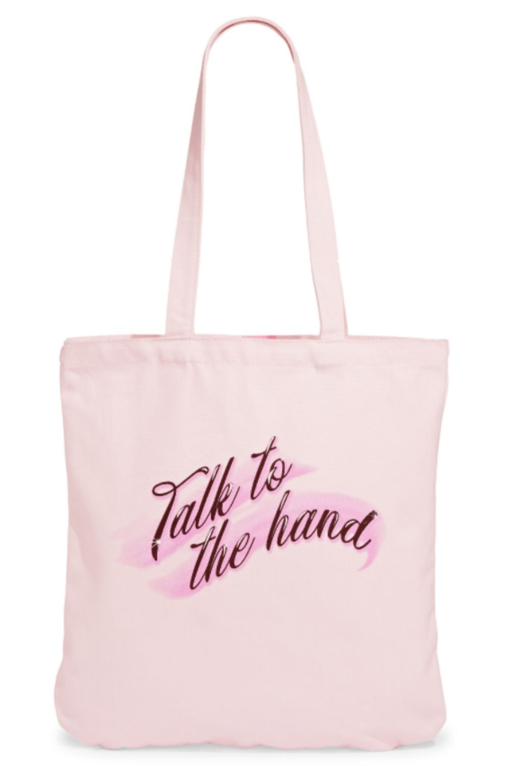 Capsule 98 X Randi Bergman Talk to the Hand Cotton Canvas Pink Tote Bag