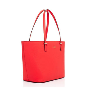 Kate Spade Women's Small Harmony Red Leather Medium Top Zip Tote Bag