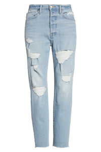 Frame Women's Le Original Raw Edge High Waist Boyfriend Distressed Jean - 30. - Luxe Fashion Finds