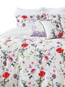 Ted Baker Hedgerow 3-Piece Floral Duvet 92 x 96 Cotton Cover Set, Full/Queen