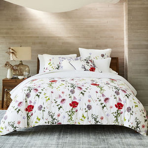 Ted Baker Hedgerow 3-Piece Floral Duvet 108 x 96 White Cotton Cover Set, King