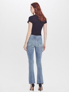 Mother Women's Runaway Weekender Destroy Flare Jeans, Helter Skelter – 29 - Luxe Fashion Finds