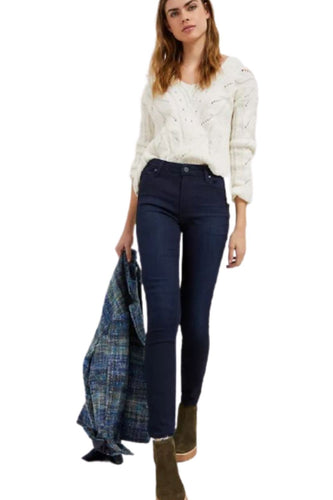 Anthropologie Paige Women's Hoxton High-Rise Skinny Ankle Stretch Blue Jeans
