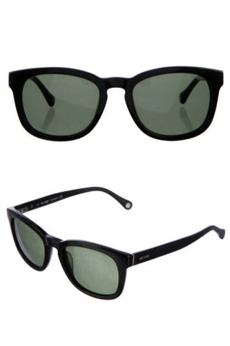 Jack Spade Men's Bryant 52mm Green Polarized UVA/UVB Aviator Black Sunglasses - Luxe Fashion Finds