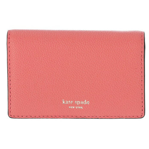Kate Spade Women's Margaux Small Leather Bifold Pink Wallet w Key Ring