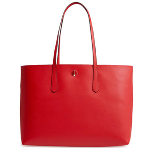 Kate Spade Women's Molly Large Leather Tote Shoulder Bag w Pouch, Hot Chili - Luxe Fashion Finds