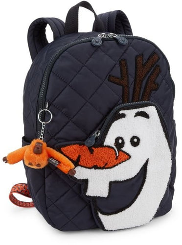 Kipling Disney's Frozen 2 Olaf Large Quilted Nylon Backpack w Monkey Charm
