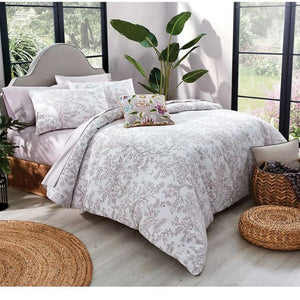 Garden Party Olivia 3-Piece Damask OekoTex Cotton 110x92 Duvet Cover Set, King