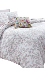 Load image into Gallery viewer, Garden Party Olivia 3-Piece Damask OekoTex Cotton 110x92 Duvet Cover Set, King