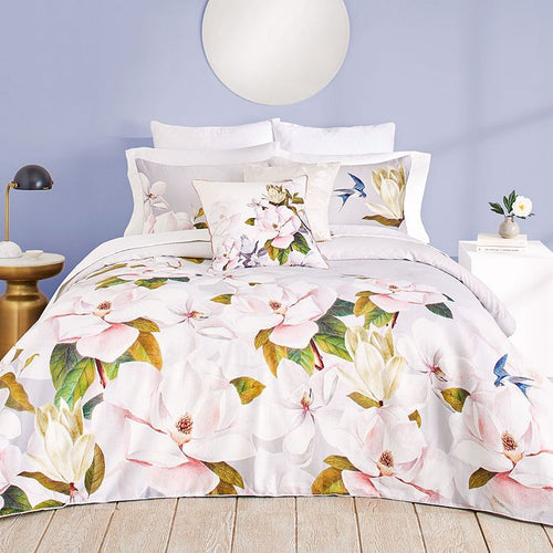 Ted Baker Opal 3-Piece Floral Bird Duvet 92 x 96 Cotton Cover Set, Full/Queen