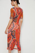 Load image into Gallery viewer, Anthropologie Women's Farm Rio Floral Stretch Knit Midi Body Con Dress - XL