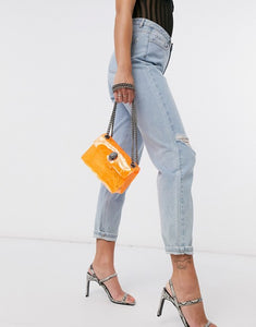 Kurt Geiger Women's Mini Kensington Transparent Rigid Crossbody Shoulder Bag - Luxe Fashion Finds