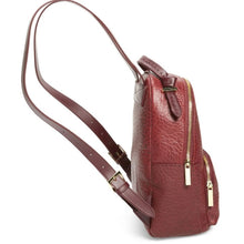 Load image into Gallery viewer, Ted Baker Women's Orilyy Knotted Handle Medium Leather Backpack, Oxblood