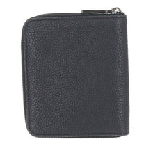 Load image into Gallery viewer, Coach Pebbled Leather Small Bifold Zip Around Black Men's Wallet #25412