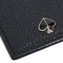 Load image into Gallery viewer, Kate Spade Women's Polly Pebbled Leather Slim Black Cardholder Wallet - Luxe Fashion Finds