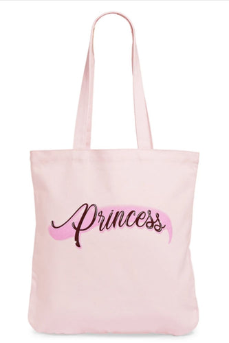 Capsule 98 X Randi Bergman Spray Paint Princess Cotton Canvas Pink Tote Bag