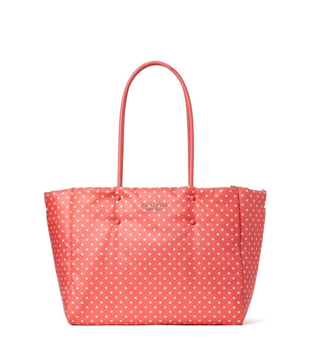 Kate Spade Women's Everything Puffy Dots Large Nylon Leather Pink Tote Bag