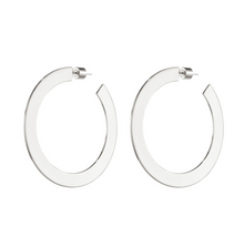 Load image into Gallery viewer, Jenny Bird Women's Quinn Medium Hoop Sterling Silver-Plated Earrings - Luxe Fashion Finds