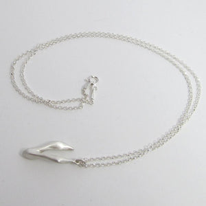 "Andree Chenier Sterling Silver Rabbit Pendant 18"" Chain Necklace, Handcrafted - Luxe Fashion Finds"