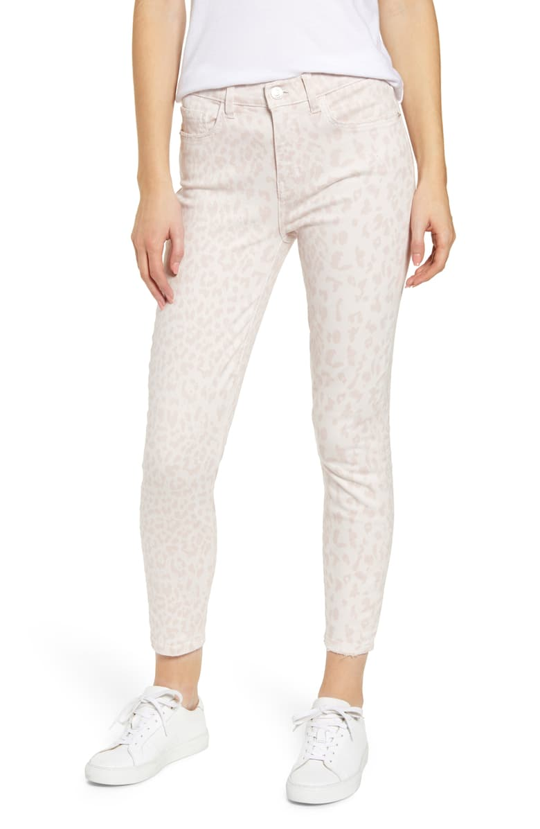 Current/Elliott Women's Stiletto High-Rise Cropped Skinny Jeans, Leopard Rose 26
